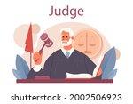 judge concept. court worker... | Shutterstock .eps vector #2002506923