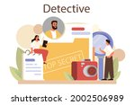 professional detective concept. ... | Shutterstock .eps vector #2002506989