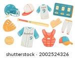 baseball accessories cute...   Shutterstock .eps vector #2002524326