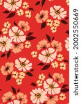 vintage floral pattern with... | Shutterstock .eps vector #2002550669