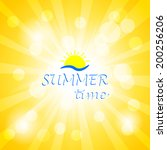 sunny background  vector design ... | Shutterstock .eps vector #200256206