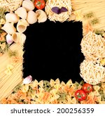 frame of different types of... | Shutterstock . vector #200256359