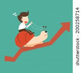 businessman riding snail slowly ... | Shutterstock .eps vector #200258714