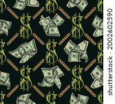 colorful vintage money seamless ... | Shutterstock .eps vector #2002602590