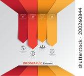 3d minimal infographics. vector | Shutterstock .eps vector #200260844