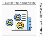 recruitment agency color icon.... | Shutterstock .eps vector #2002644746