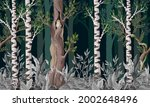 pattern with forest trees such...   Shutterstock .eps vector #2002648496