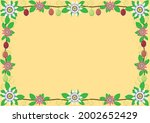 passion flower  passion fruits... | Shutterstock .eps vector #2002652429