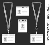 lanyard  name tag holder end... | Shutterstock .eps vector #200265638