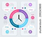 infographic design. time... | Shutterstock .eps vector #200265800