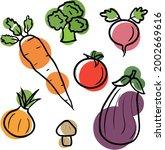 set of original illustrations...   Shutterstock .eps vector #2002669616