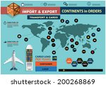 vector infographics import and... | Shutterstock .eps vector #200268869