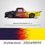 racing car wrap design vector... | Shutterstock .eps vector #2002698959