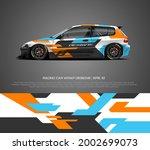 racing car wrap design vector... | Shutterstock .eps vector #2002699073