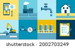 water supply and sanitation... | Shutterstock .eps vector #2002703249