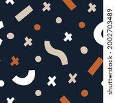 trendy seamless vector pattern. ... | Shutterstock .eps vector #2002703489
