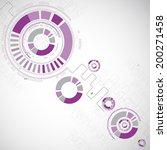 abstract technology circles... | Shutterstock .eps vector #200271458