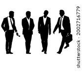 set silhouette businessman man... | Shutterstock . vector #2002716779
