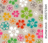 cute colorful spring flowers... | Shutterstock .eps vector #200272364