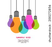 vector light bulb icons with... | Shutterstock .eps vector #200272856