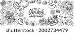 granola ingredients... | Shutterstock .eps vector #2002734479