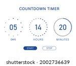 countdown timer. days  hours ...   Shutterstock .eps vector #2002736639