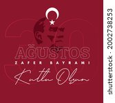 30 august zafer bayrami victory ... | Shutterstock .eps vector #2002738253