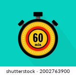 icon of timer with 60 minutes...