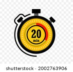 icon of timer with 20 minutes...