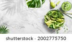 fresh summer salad with avocado ... | Shutterstock . vector #2002775750