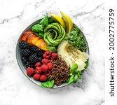 fresh summer salad with quinoa  ... | Shutterstock . vector #2002775759