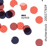 bright red and blue textured... | Shutterstock .eps vector #200277839