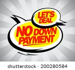 no down payment design with... | Shutterstock .eps vector #200280584