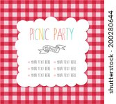 menu template for picnic party. | Shutterstock .eps vector #200280644