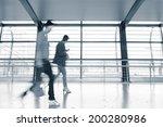 interior of a modern station | Shutterstock . vector #200280986