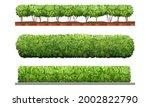 green hedge. bushes garden... | Shutterstock .eps vector #2002822790