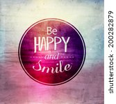 inspirational and encouraging... | Shutterstock .eps vector #200282879