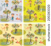 seamless pattern with children... | Shutterstock .eps vector #200283320