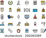 hotel icons   Shutterstock .eps vector #200283389