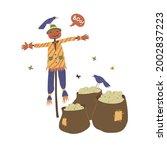 Garden Scarecrow Of Pumpkin And ...