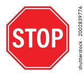 stop traffic sign icon vector...