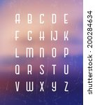 alphabet set   typographic... | Shutterstock .eps vector #200284634