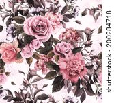 seamless floral pattern with... | Shutterstock . vector #200284718