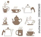 vector tea icon set | Shutterstock .eps vector #200285600