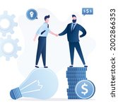 idea pitching  fund raising and ... | Shutterstock .eps vector #2002866353