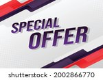 special offer word concept...