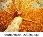 enjoying the nature. young... | Shutterstock . vector #200288633