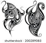 tattoo design elements | Shutterstock .eps vector #200289083