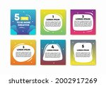 set of 6 colorful template...   Shutterstock .eps vector #2002917269