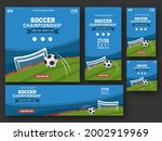 competitions poster for soccer...   Shutterstock .eps vector #2002919969